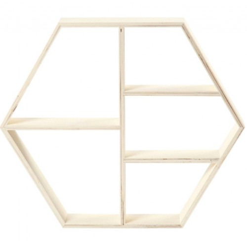 Display wandrek hexagon 25 x 28,5 x 5 cm.