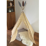 Tipi tent wigwam Canvas triangel okergeel wit